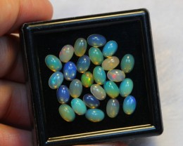 NR Auction ~ 7.23ct Oval 6x4mm Welo Opal Parcel Lot