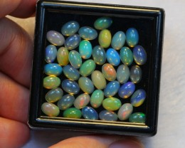 NR Auction ~ 11.58ct Oval 6x4mm Welo Opal Parcel Lot