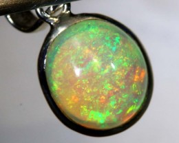 7.55CTS ETHIOPIAN OPAL SILVER PENDANT FOB-1195