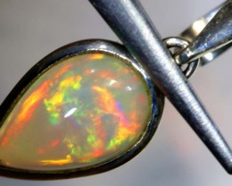6.6CTS ETHIOPIAN OPAL SILVER PENDANT FOB-1199