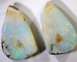 CTS BOULDER OPAL PAIRS POLISHED CUT STONE TBO-75