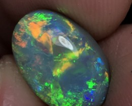 4.85ct Lightning Ridge Gem Semi Black Opal LRS054