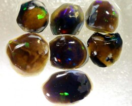 26.8CTS DARK OPAL ROUGH PARCEL 7PCS DT-7506