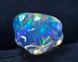 5ct Water Opal Extremely Bright Carved Rare Stone from Mexico