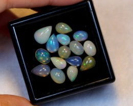 NR Auction ~ 9.33ct Mix Shape Welo Opal Parcel Lot