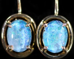 Gem Opal Triplet set in Silver Earring CF1434