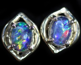 Gem Opal Triplet set in Silver Earring CF1435