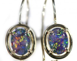 Gem Opal Triplet set in Silver Earring CF1437