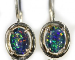 Gem Opal Triplet set in Silver Earring CF1440