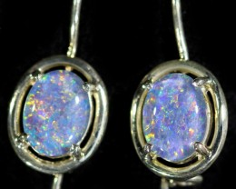Gem Opal Triplet set in Silver Earring CF1444