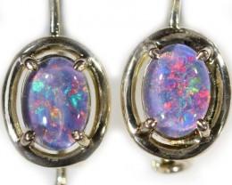 Gem Opal Triplet set in Silver Earring CF1445