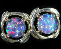 Gem Opal Triplet set in Silver Earring CF1447