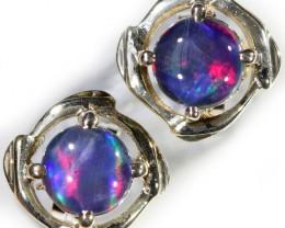Gem Opal Triplet set in Silver Earring CF1450