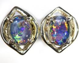 Gem Opal Triplet set in Silver Earring CF1451
