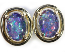 Gem Opal Triplet set in Silver Earring CF1452