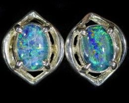 Gem Opal Triplet set in Silver Earring CF1454