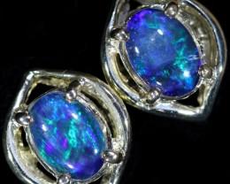 Gem Opal Triplet set in Silver Earring CF1456