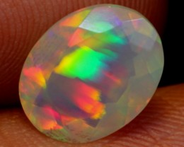 NR Auction ~ 1.10ct Rainbow Minor Ribbon Ethiopian Welo Faceted Opal