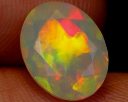 NR Auction ~ 1.30ct Neon Broadflash Ethiopian Welo Faceted Opal