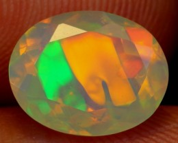 NO RESERVE 1.43Ct Metallic Digit Ethiopian Welo Faceted Opal