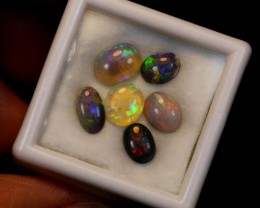 NO RESERVE 3.27ct 6Pcs Australian Lightning Ridge Opal Parcel Lot