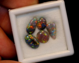 NO RESERVE 2.68ct 5Pcs Australian Lightning Ridge Opal Parcel Lot