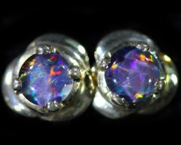 Gem Opal Triplet set in Silver Earring CF1458