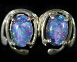 Gem Opal Triplet set in Silver Earring CF1459