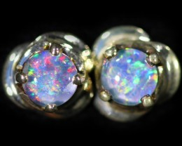 Gem Opal Triplet set in Silver Earring CF1462