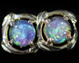 Gem Opal Triplet set in Silver Earring CF1464