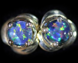 Gem Opal Triplet set in Silver Earring CF1465