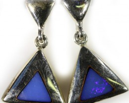 Inlay opal earrings set in silver CF1475