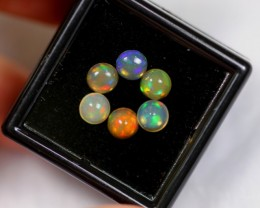 Hurry, No Reserve~ 1.67cts Round 5mm Welo Opal Parcel Lot