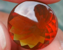 6.10 CRT GORGEUS BROWN ORANGE INDONESIAN FIRE OPAL FACETED
