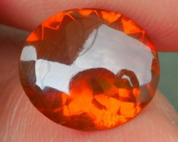 1.65 CRT GORGEOUS BROWN RED INDONESIAN FIRE OPAL FACETED