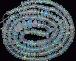 29.00 Ct Natural Ethiopian Welo Opal Beads Play Of Color