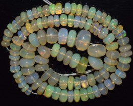 82.15 Ct Natural Ethiopian Welo Opal Beads Play Of Color