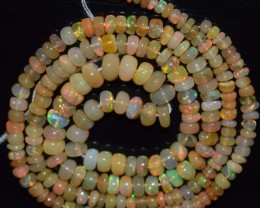 33.65 Ct Natural Ethiopian Welo Opal Beads Play Of Color