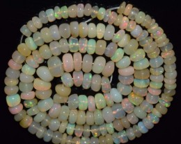 49.10 Ct Natural Ethiopian Welo Opal Beads Play Of Color