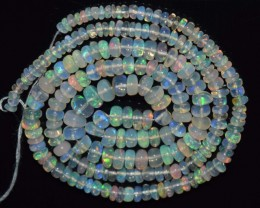 33.10 Ct Natural Ethiopian Welo Opal Beads Play Of Color