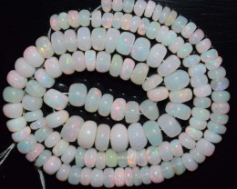 74.85 Ct Natural Ethiopian Welo Opal Beads Play Of Color