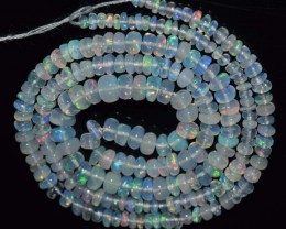30.35 Ct Natural Ethiopian Welo Opal Beads Play Of Color