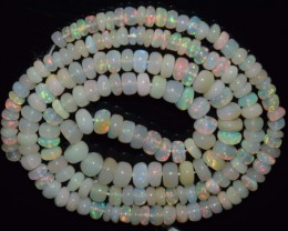 42.05 Ct Natural Ethiopian Welo Opal Beads Play Of Color