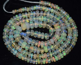 33.00 Ct Natural Ethiopian Welo Opal Beads Play Of Color