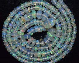 31.65 Ct Natural Ethiopian Welo Opal Beads Play Of Color