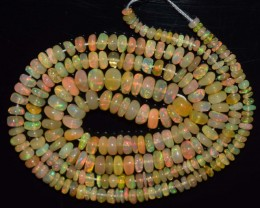 38.20 Ct Natural Ethiopian Welo Opal Beads Play Of Color