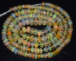 35.80 Ct Natural Ethiopian Welo Opal Beads Play Of Color
