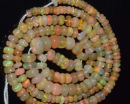 36.80 Ct Natural Ethiopian Welo Opal Beads Play Of Color