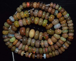 83.30 Ct Natural Ethiopian Welo Opal Beads Play Of Color