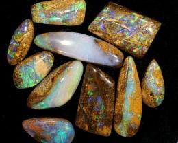 10pcs 46ct Pipe Wood Fossil Boulder Opal Parcel [LOB-843]